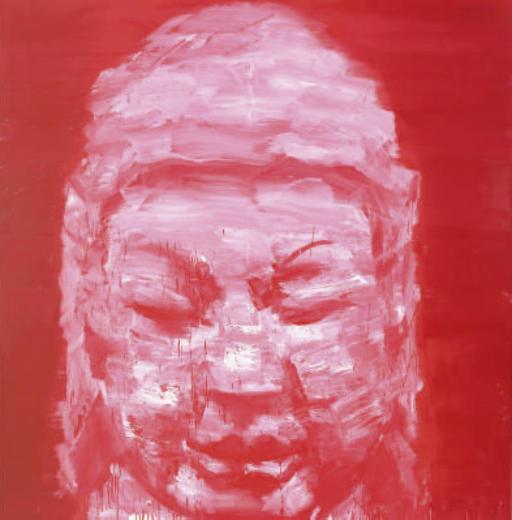 Tête de Bouddha Rouge