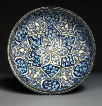 A SULTANABAD POTTERY BOWL