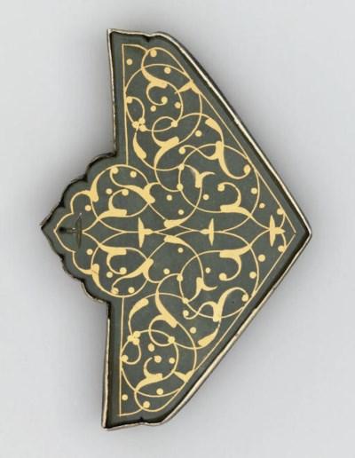 AN OTTOMAN GOLD INLAID SILVER