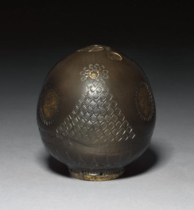 A TOPHANE WARE POTTERY EGG