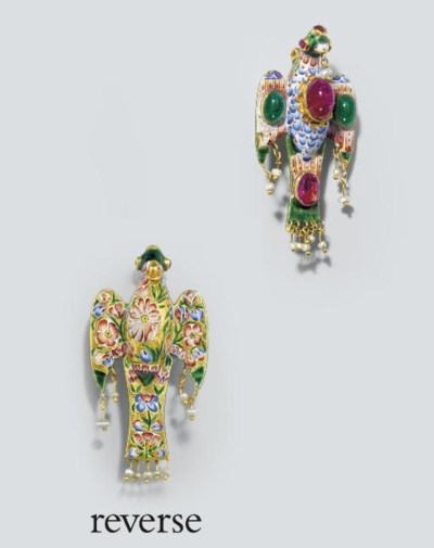 A QAJAR JEWELLED AND ENAMELLED