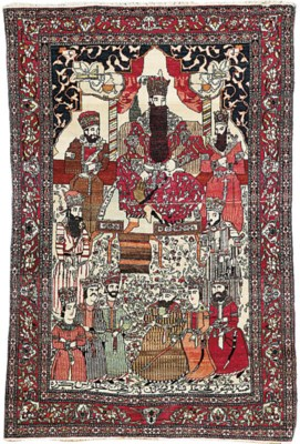 AN ISFAHAN PICTORIAL RUG