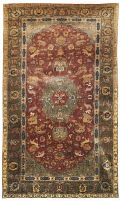 A TURKISH SILK CARPET