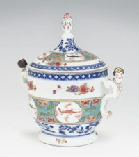 A MEISSEN TWO-HANDLED CRAYFISH-PATTERN TUREEN AND COVER