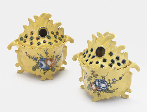 TWO MONTPELLIER FAIENCE YELLOW