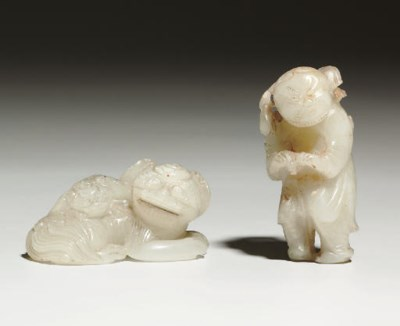 A GROUP OF EIGHT SMALL JADE CA