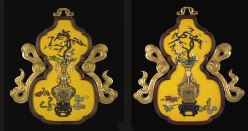 A PAIR OF IMPERIAL DOUBLE-GOUR