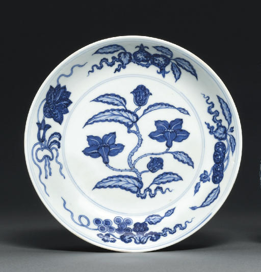 A BLUE AND WHITE 'MING-STYLE'