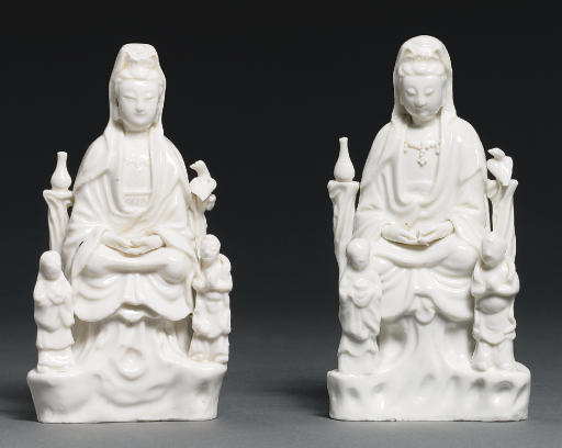 TWO BLANC-DE-CHINE MODELS OF G