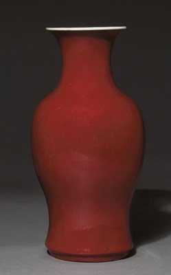 A LARGE LANGYAO-TYPE RED-GLAZE