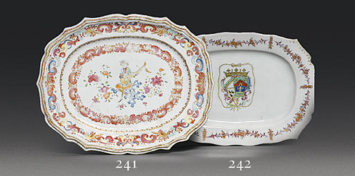 A FAMILLE ROSE 'MUSICIAN' DISH