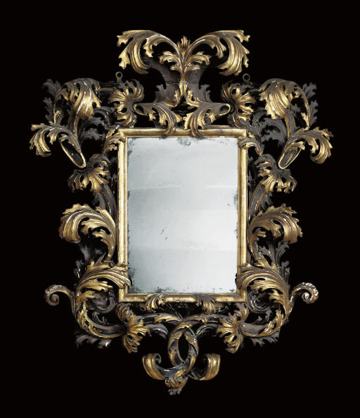 AN ITALIAN GILTWOOD AND SILVER