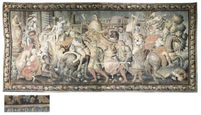 A LOUIS XIV HISTORICAL TAPESTR