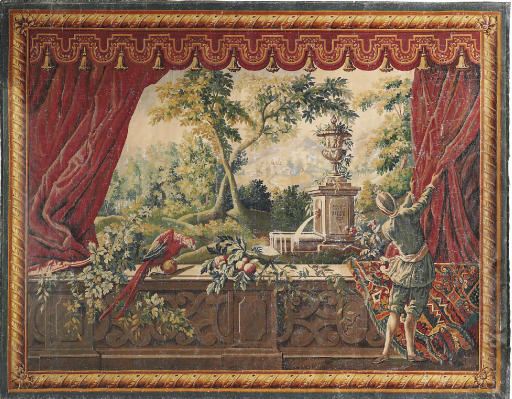 A FRENCH SIMULATED TAPESTRY