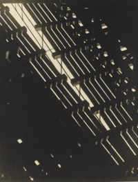 Pattern of Light and Shadow Under Elevated R.R. Looking Up, 1930