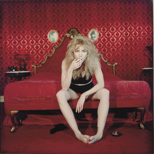 Traci Lords Smoking a Cigarette in the 'Valentino Room' of the Alexandria Hotel, Los Angeles, April 1996