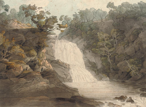 The falls of the Mothvaye, North Wales