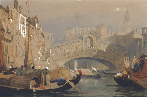 The Rialto Bridge, Venice; and View of Basle