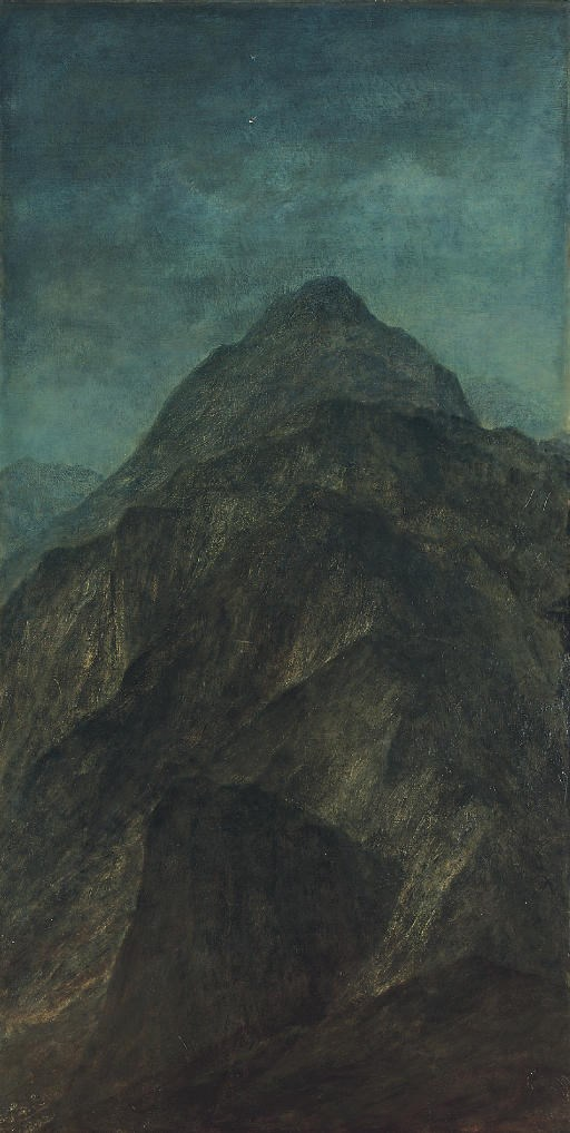 George Frederic Watts, O.M., R.A. (1817-1904), Ararat, 1890. 56½ x 28½  in (143.5 x 72.5  cm). Oil on canvas. Sold for £42,500 on 15 November 2007 at Christie's in London