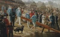 The Boat Race, Cambridge on the slip
