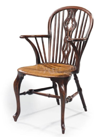 A GEORGE III MAHOGANY WINDSOR