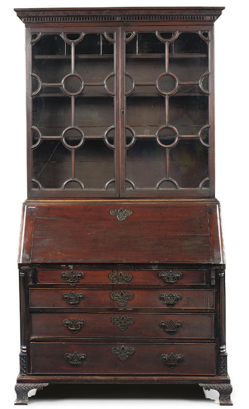 AN EARLY GEORGE III MAHOGANY B
