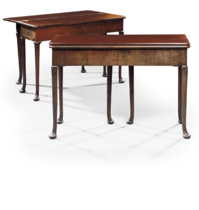 A PAIR OF GEORGE I MAHOGANY DR