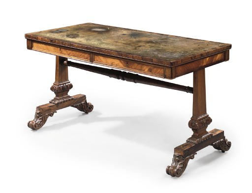 A WILLIAM IV ROSEWOOD WRITING-