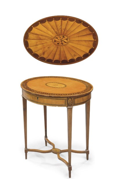 A GEORGE III SATINWOOD AND HOL