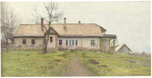 Cottage in a landscape