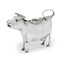 A GEORGE III SILVER COW-CREAMER