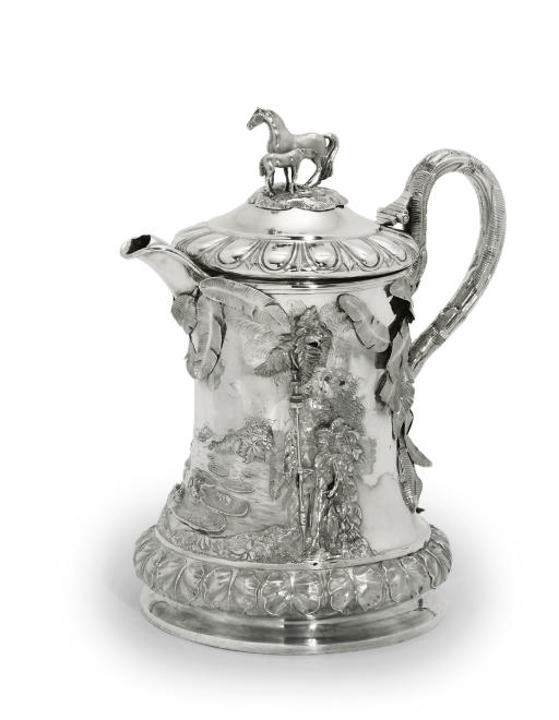 A LARGE VICTORIAN SILVER FLAGON
