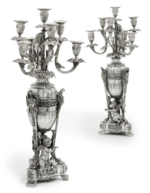 A FINE PAIR OF FRENCH SILVER S