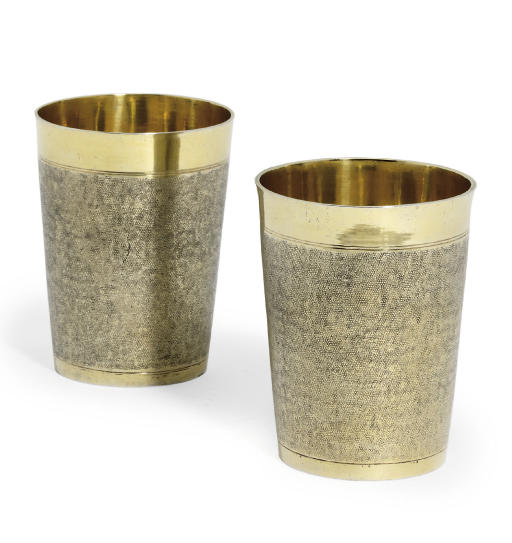 A PAIR OF GERMAN SILVER-GILT B