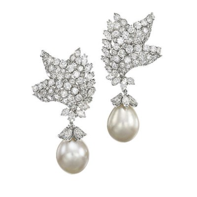 A PAIR OF CULTURED PEARLS AND