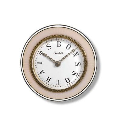 A BELLE EPOQUE DESK CLOCK, BY