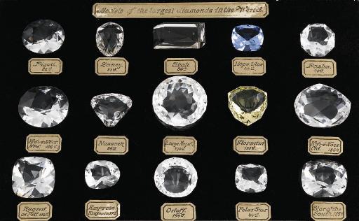 A SET OF HISTORIC DIAMOND MODE