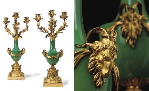 A PAIR OF LOUIS XVI ORMOLU AND