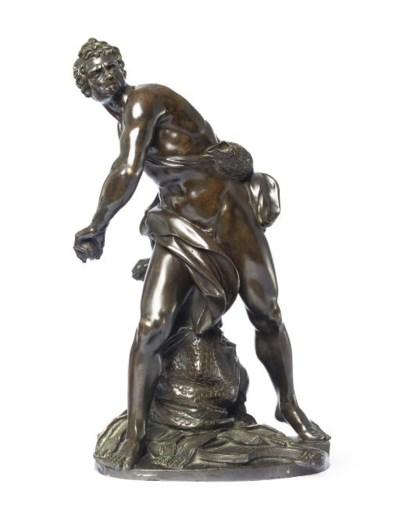 A BRONZE FIGURE OF DAVID