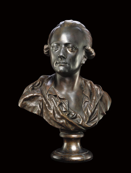 A BRONZE BUST OF THE ARCHBISHO