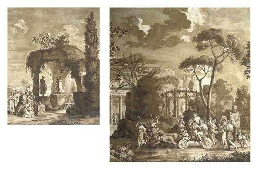 A SET OF FRENCH GRISAILLE-PAIN