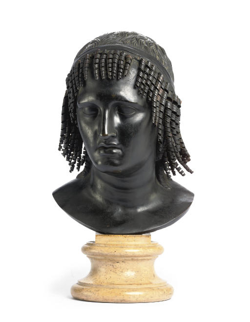 A BRONZE BUST OF PTOLOMY APION