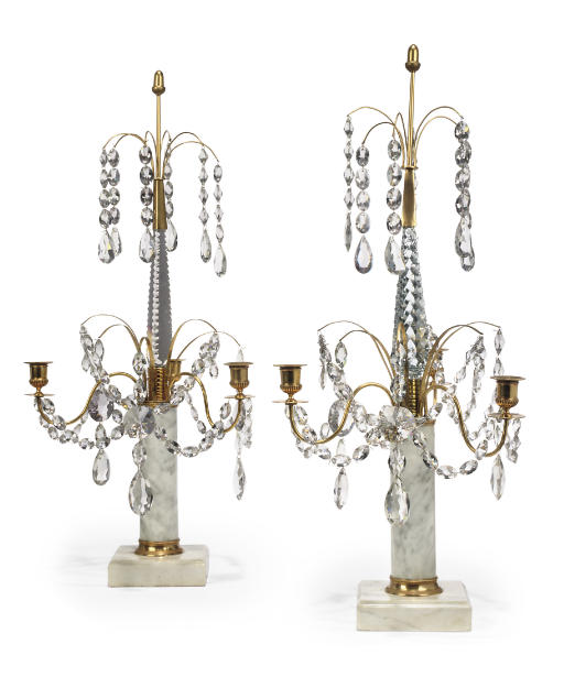 A PAIR OF SWEDISH ORMOLU, WHIT