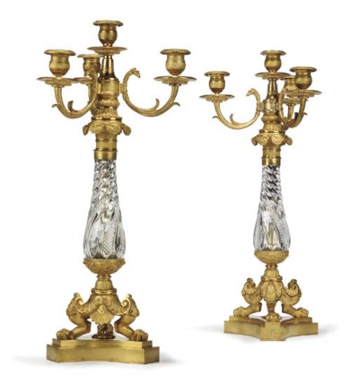 A PAIR OF RUSSIAN ORMOLU AND C