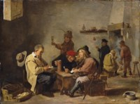 Card players in an inn