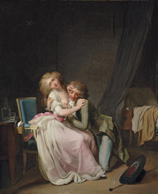La Lutte galante (or Ça ira): An amorous couple in an interior