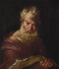 A philosopher, half-length