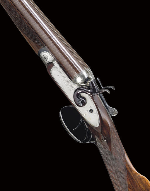 A RARE AND UNUSUAL 12-BORE (CONVERTED FROM 14-BORE) BAR-IN-WOOD TOP LEVER HAMMER EJECTOR GUN BY THOMAS HORSLEY & SON, NO. 3219