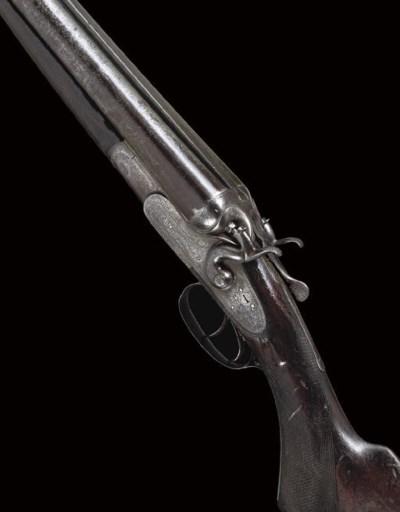 A 10-BORE SIDELOCK HAMMER GUN