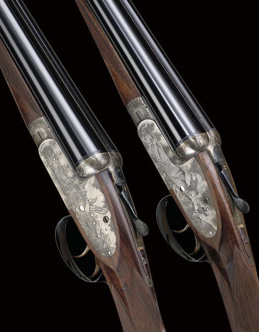 A FINE PAIR OF 12-BORE SIDELOCK EJECTOR GUNS BY GALLYON, NOS. 12318/9